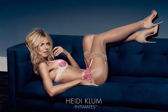 42-летняя Хайди Клум снялась в рекламной кампании нижнего белья