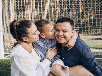 Вероника Дидусенко и Геннадий Курочка вместе с сыном Александром