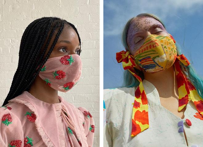 Модні захисні маски для обличчя