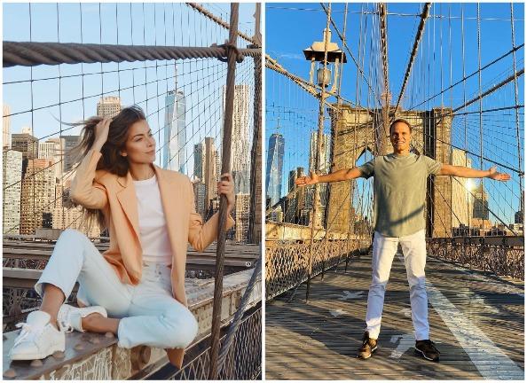 София Евдокименко и Денис Жданов в Нью-Йорке
