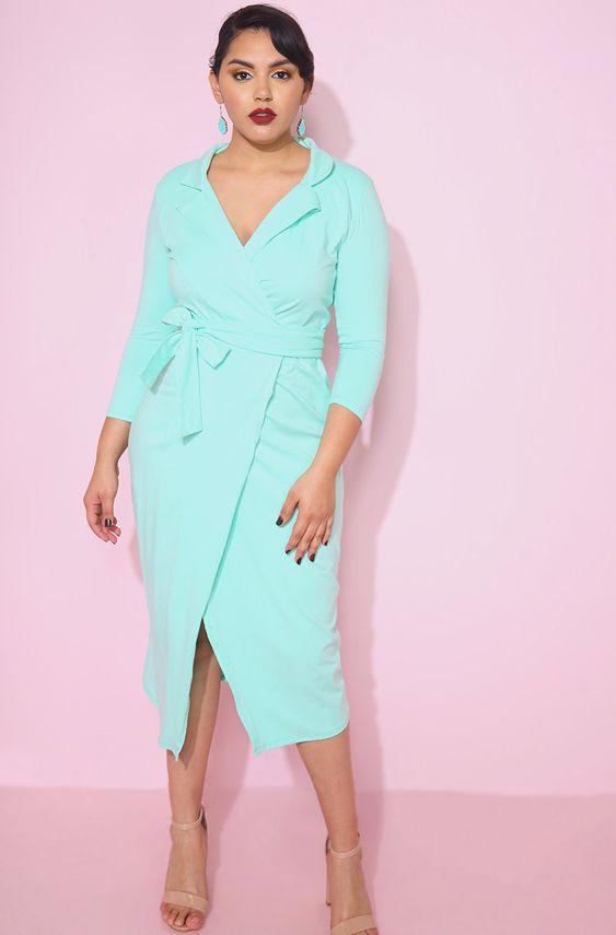 Платья plus-size на весну-лето 2020: лучшие варианты для полных девушек