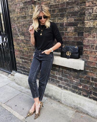 Леопардовая обувь с брюками