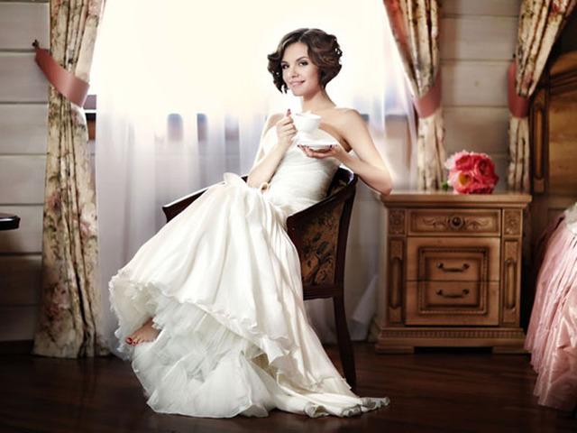 Еріка в весільній фотосессії