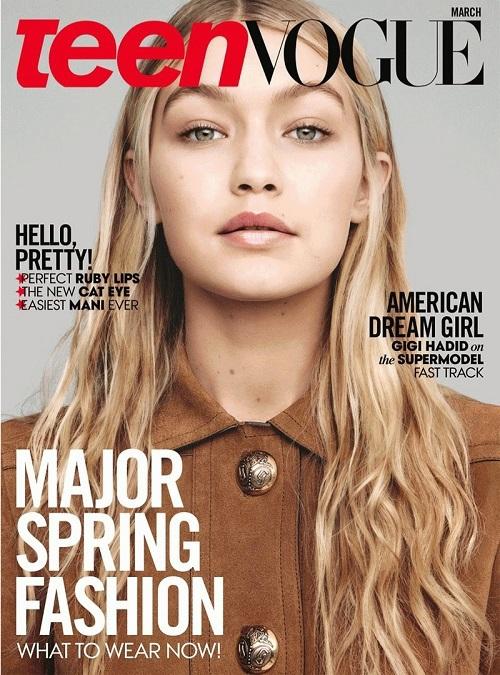 Джіджі Хадід для Teen Vogue US (березень, 2015)