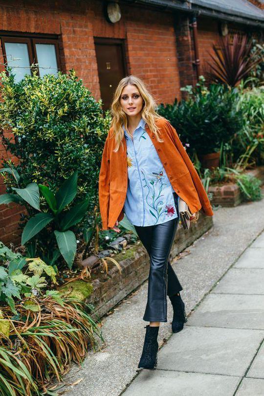 Як носити денім з нашивками: Олівія Палермо