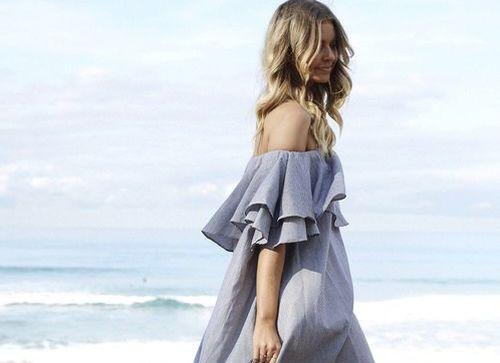 Модні сукні 2016: волани (street style)