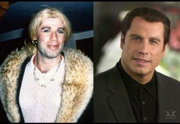 Голливудские актеры в женских образах