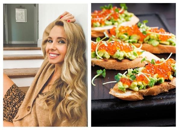 Маша Виноградова: бутерброды с икрой и авокадо