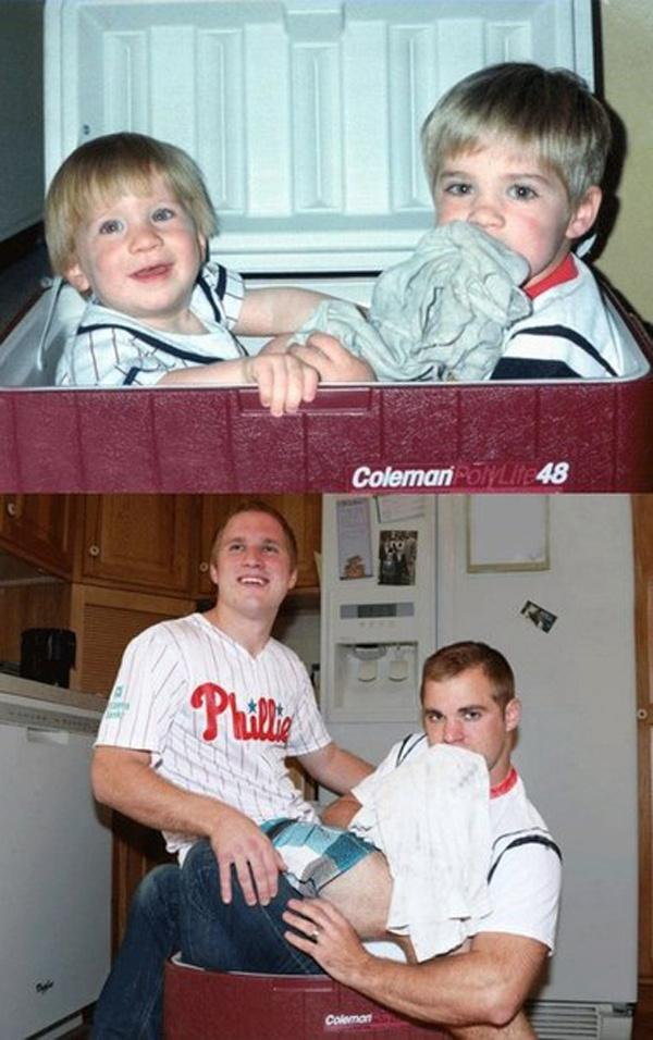 Воссозданные детские снимки через много лет