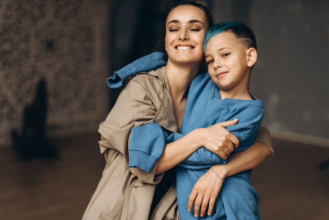 Ксения Мишина с сыном