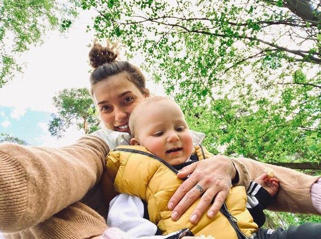 Регина Тодоренко с сыном Майклом