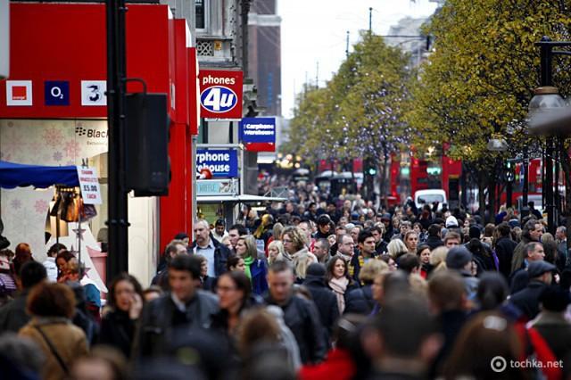 5 мест, где туристу лучше не бывать в понедельник: Оксфорд стрит, Лондон, Великобритания