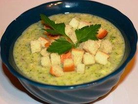 Сливочный суп-пюре с брокколи