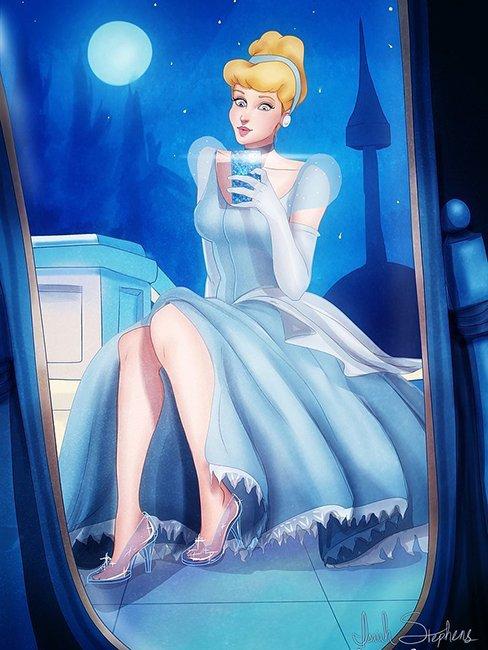Принцы и принцессы Диснея делают селфи