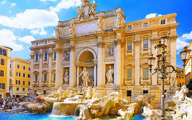 Достопримечательности Рима: фонтан Треви