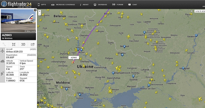 Небо онлайн. Flightradar24