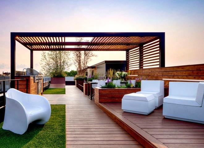 Місце для відпочинку над дахом