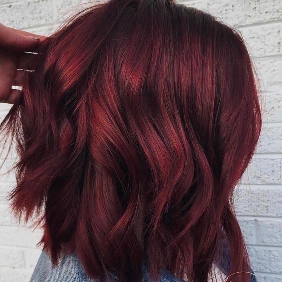 """Оттенок волос """"глинтвейн"""""""