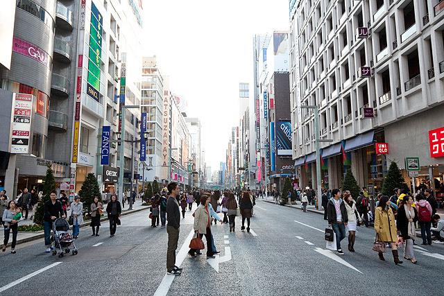 5 кращих шопінг-авеню: The Ginza, Японія