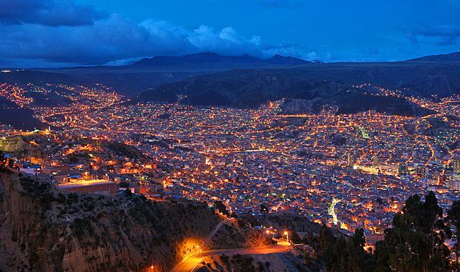 Міста вище і нижче рівня моря: Ель Альто, Болівія