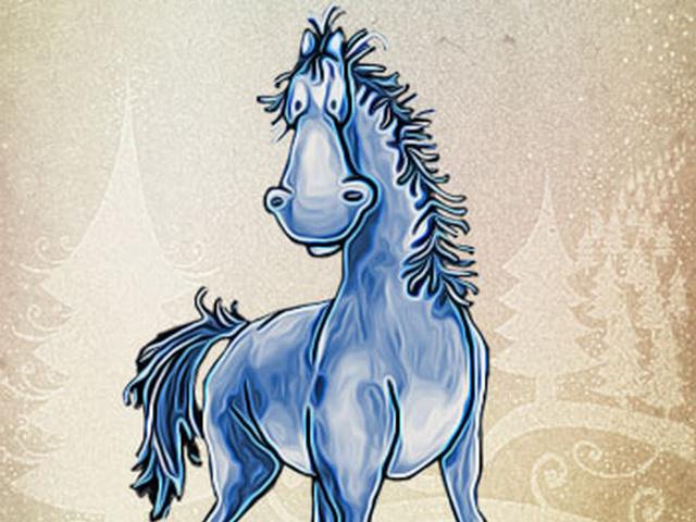 С новым годом лошади прикольные картинки