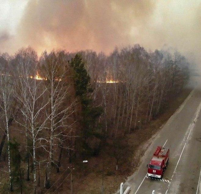 Пожар в зоне ЧАЭС