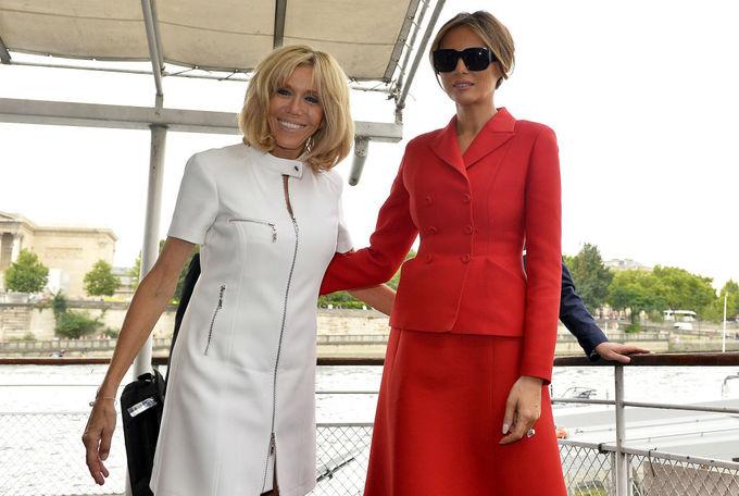 Модная битва: Мелания Трамп и Брижит Макрон
