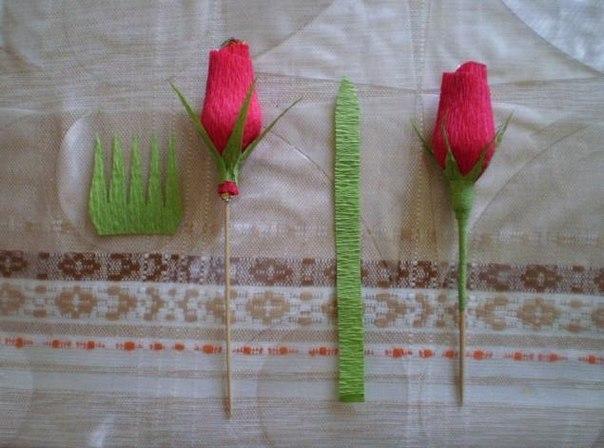 Розы с конфетами из гофрированной бумаги своими руками пошагово фото