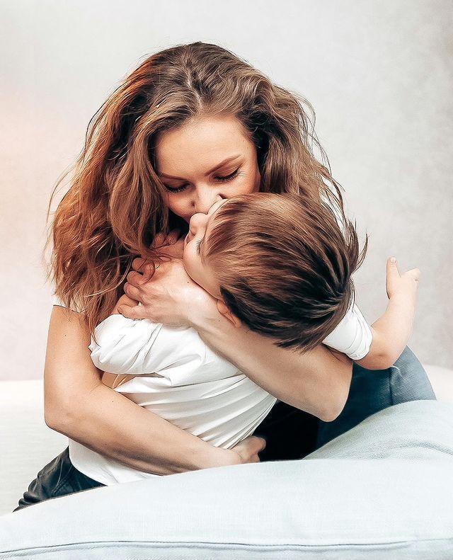 Олена Шоптенко разом з сином Олексієм