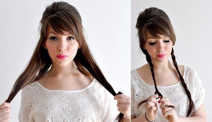 зачіска з чубком на Новий рік 2016