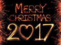 Романтические обои на Рождество 2017