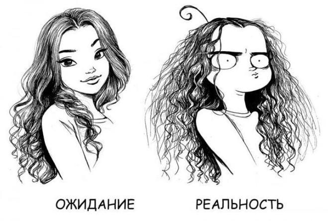Жизненный комикс про длинные волосы