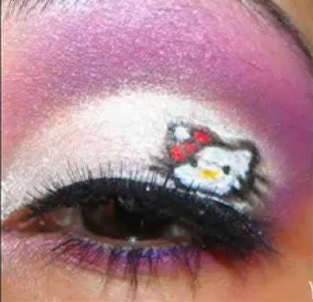 Самый необычный макияж глаз