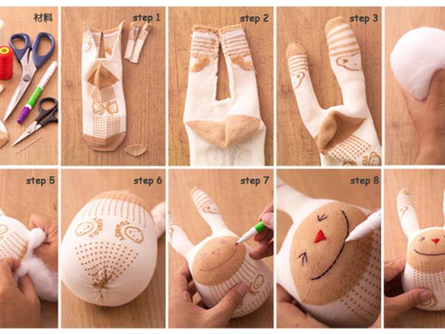 Как сделать мягкую игрушку своими руками из носков видео