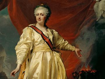 Дмитро Левицький, 1783 г, Катерина II - Законодавиці в храмі богині Правосуддя