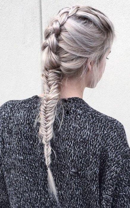 Сіре омбре - модне фарбування волосся осені 2016