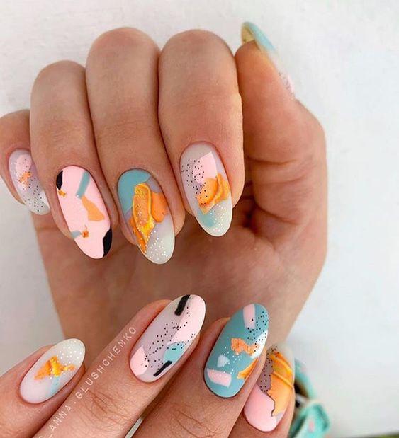 Яркий летний дизайн ногтей