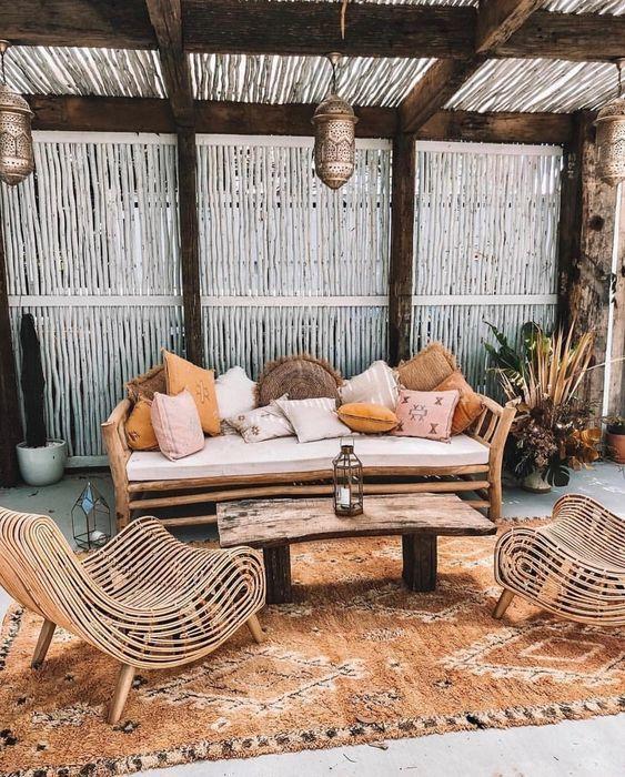 Терраса на даче: текстиль