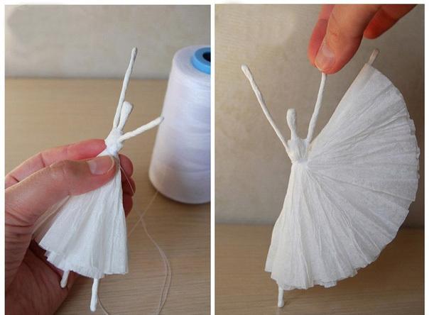 Балерина своими руками из салфеток 846