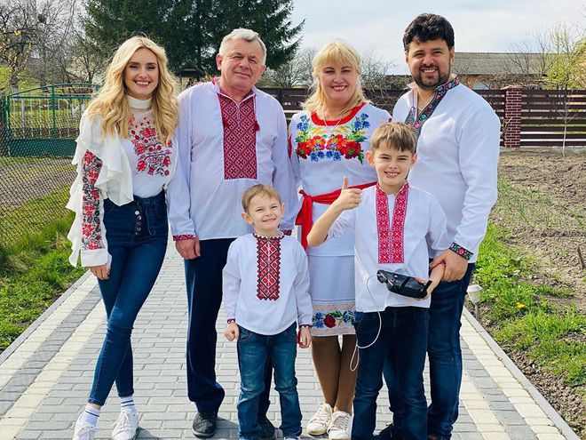 Ирина Федишин с семьей
