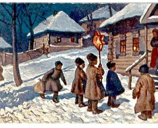 Колядки русские народные на Рождество  короткие детские