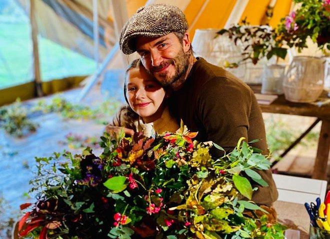 Дэвид Бекхэм с дочерью Харпер