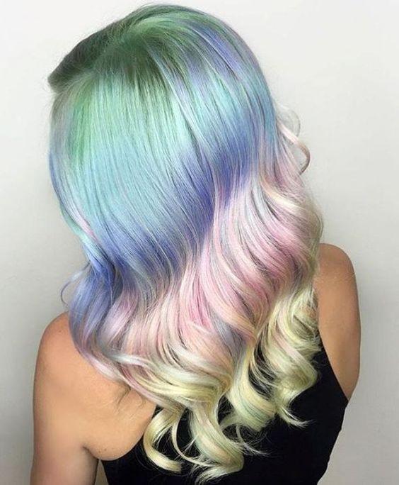 Радужное окрашивание волос