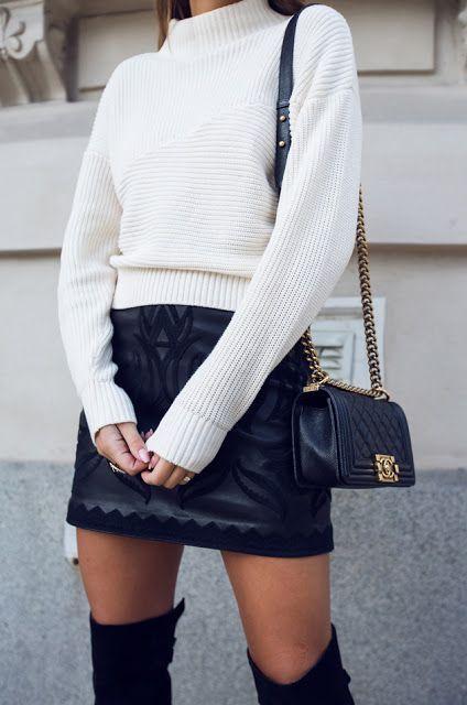 Как носить юбку зимой