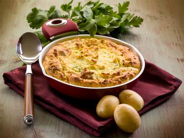 Блюда для рождественского стола, Картофельный пирог с сыром