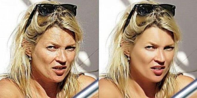 Снимки знаменитостей с фотошопом и без