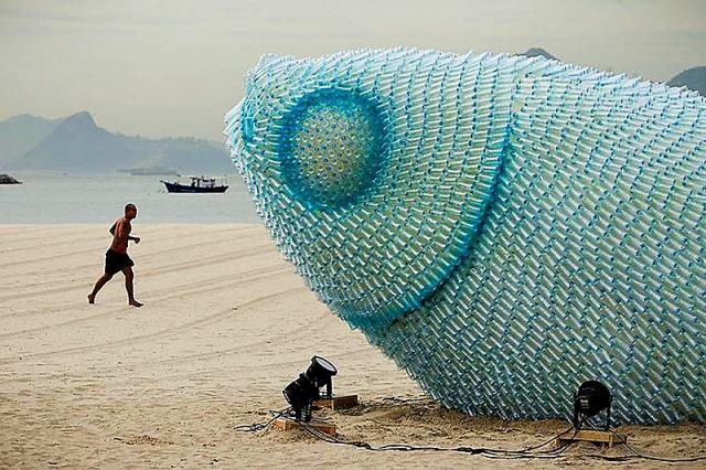 Скульптури риб: мега-риба з Бразилії
