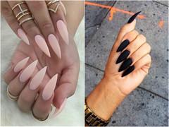 Дизайн острых длинных ногтей