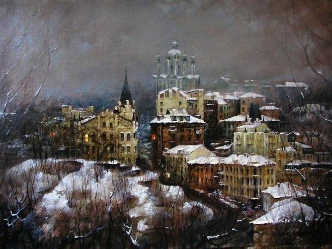 Киев глазами художника: пейзажи Виталия Петровского