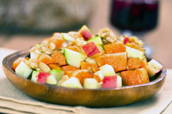Постные салаты без растительного масла